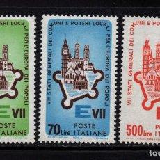 Sellos: ITALIA 909/11** - AÑO 1964 - REUNION DE ESTADOS GENERALES DE COMUNIDADES EUROPEAS. Lote 167394760