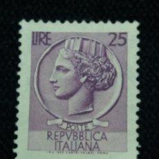 Sellos: ITALIA, TURITA 25 LIRAS, AÑO 1953. SIN USAR. Lote 167862756