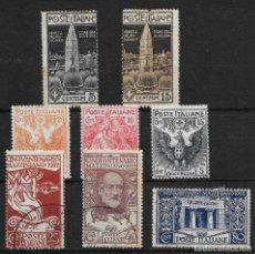 Sellos: ITALIA YVERT NUM. 93/94*-98/100*-121/23*. Lote 170970705