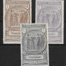 Sellos: ITALIA. YVERT NUM. 140/42*.. Lote 171014777