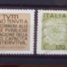Sellos: ITALIA MINISTERIO DE HACIENDA SERIE DE SELLOS USADOS. Lote 171106399