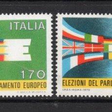 Sellos: ITALIA 1979 IVERT 1391/92 *** ELECCIONES DEL PARLAMENTO EUROPEO . Lote 171173372
