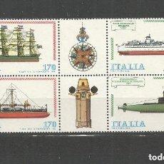 Sellos: ITALIA 1979 IVERT 1405/08 *** CONSTRUCCIONES NAVALES (III) - BARCOS. Lote 171174652