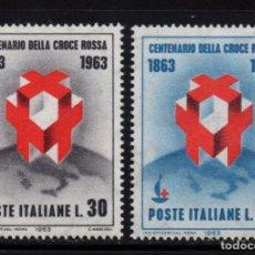 Sellos: ITALIA 889/90** - AÑO 1963 - CENTENARIO DE LA CRUZ ROJA INTERNACIONAL. Lote 171513372