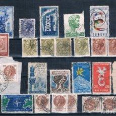 Sellos: SELLOS USADOS DE ITALIA VARIOS DE 1955 A 1975 TRES FOTOGRAFÍAS BONITOS MATASELLO. Lote 171545087