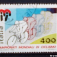 Sellos: ITAL MUNDIAL DE CICLISMO SELLO USADO. Lote 171667707