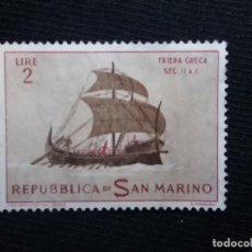 Sellos: SAN MARINO, 2 LIRES, TRIERA GRIECA, AÑO 1963. NUEVO. Lote 171708274