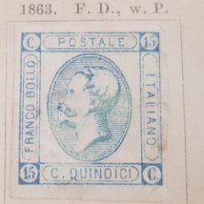 Sellos: SELLO ANTIGUO DE ITALIA AÑO 1863. Lote 173588532