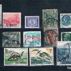Sellos: SELLOS DE COLONIAS ITALIANAS Y SAN MARINO ALGUN MATASELLOS DE 1927 MILITARE. Lote 174184092