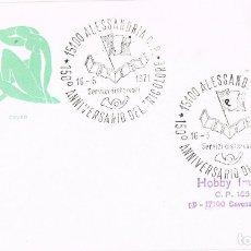 Sellos: 0734. CARTA ALESSANDRIA (ITALIA) 1971. 150 ANNIVERSARIO TRICOLORE. Lote 174395364