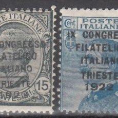 Sellos: ITALIA, 1922 YVERT Nº 117 / 120 /*/ . Lote 176011239