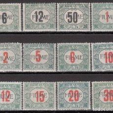 Sellos: FIUME, TASAS, 1919 YVERT Nº 1 / 12 /*/, . Lote 176308487