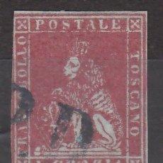 Sellos: ITALIA, ESTADOS. TOSCANA, 1851 YVERT Nº 4. Lote 207001762