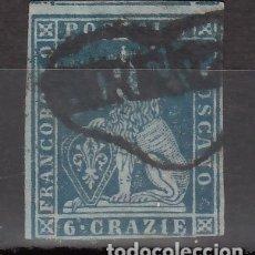 Sellos: ITALIA, ESTADOS. TOSCANA, 1851 YVERT Nº 7. Lote 176385200