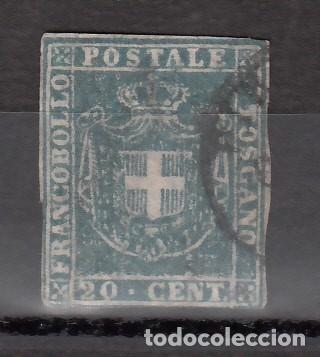 ITALIA, ESTADOS. TOSCANA, GOBIERNO PROVISIONAL 1860 YVERT Nº 20A, AZUL-GRIS. (Sellos - Extranjero - Europa - Italia)
