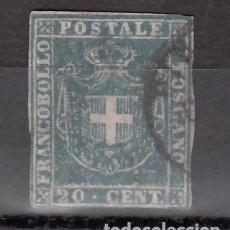 Sellos: ITALIA, ESTADOS. TOSCANA, GOBIERNO PROVISIONAL 1860 YVERT Nº 20A, AZUL-GRIS.. Lote 176385617