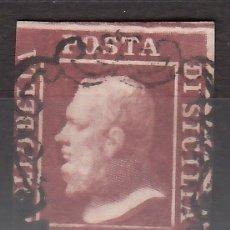 Sellos: ITALIA, ESTADOS, SICILIA 1859 YVERT Nº 24, FERDINANDO II. Lote 176386734