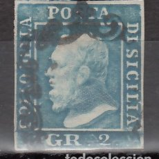 Sellos: ITALIA, ESTADOS, SICILIA 1859 YVERT Nº 20, FERDINANDO II. Lote 176386968
