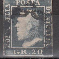 Sellos: ITALIA, ESTADOS, SICILIA 1859 YVERT Nº 23, FERDINANDO II. Lote 176387044
