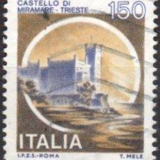 Sellos: ITALIA - UN SELLO - IVERT:#IT-1442 - ***C A S T I L L O S*** - AÑO 1980 - USADO. Lote 176429524