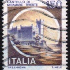 Sellos: ITALIA - UN SELLO - IVERT:#IT-1442 - ***C A S T I L L O S*** - AÑO 1980 - USADO. Lote 176429564