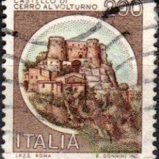 Sellos: ITALIA - UN SELLO - IVERT:#IT-1445 - ***C A S T I L L O S*** - AÑO 1980 - USADO. Lote 176430074
