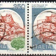 Sellos: ITALIA - DOS SELLOS - IVERT:#IT-1448 - ***C A S T I L L O S*** - AÑO 1980 - USADOS. Lote 176434310