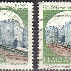 Sellos: ITALIA - DOS SELLOS - IVERT:#IT-1449 - ***C A S T I L L O S*** - AÑO 1980 - USADOS. Lote 176434425