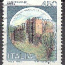 Sellos: ITALIA - UN SELLO - IVERT:#IT-1451 - ***C A S T I L L O S*** - AÑO 1980 - USADO. Lote 176453182