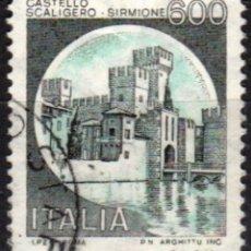Sellos: ITALIA - UN SELLO - IVERT:#IT-1452 - ***C A S T I L L O S*** - AÑO 1980 - USADO. Lote 176453970