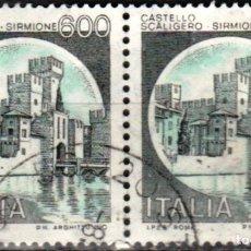 Sellos: ITALIA - DOS SELLOS - IVERT:#IT-1452 - ***C A S T I L L O S*** - AÑO 1980 - USADOS. Lote 176454204
