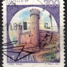 Sellos: ITALIA - UN SELLO - IVERT:#IT-1453 - ***C A S T I L L O S*** - AÑO 1980 - USADO. Lote 176465615