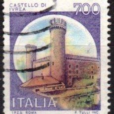 Sellos: ITALIA - UN SELLO - IVERT:#IT-1453 - ***C A S T I L L O S*** - AÑO 1980 - USADO. Lote 176465643