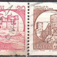 Sellos: ITALIA - DOS SELLOS - IVERT:#IT-1457 Y 1458 - ***C A S T I L L O S*** - AÑO 1980 - USADOS. Lote 176465849