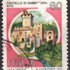 Sellos: ITALIA - UN SELLO - IVERT:#IT-1500 - ***C A S T I L L O S*** - AÑO 1981 - USADO. Lote 176466032