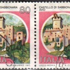 Sellos: ITALIA - DOS SELLOS - IVERT:#IT-1500 - ***C A S T I L L O S*** - AÑO 1981 - USADOS. Lote 176466127