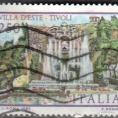 Sellos: ITALIA -UN SELLO - IVERT:#IT-1545 - ***VILLAS ITALIANAS*** - AÑO 1982 - USADO. Lote 176466377