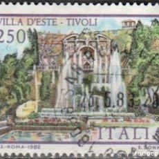 Sellos: ITALIA -UN SELLO - IVERT:#IT-1545 - ***VILLAS ITALIANAS*** - AÑO 1982 - USADO. Lote 176466419