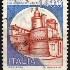 Sellos: ITALIA - UN SELLO - IVERT:#IT-1582 - ***C A S T I L L O S*** - AÑO 1983 - USADO. Lote 176466554