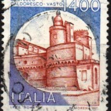 Sellos: ITALIA - UN SELLO - IVERT:#IT-1582 - ***C A S T I L L O S*** - AÑO 1983 - USADO. Lote 176466593