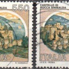 Sellos: ITALIA - DOS SELLOS - IVERT:#IT-1603 - ***C A S T I L L O S*** - AÑO 1984 - USADOS. Lote 176466727