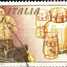 Sellos: ITALIA - UN SELLO - IVERT:#IT-1609 - ***TRABAJO ITALIANO PARA EL MUNDO*** - AÑO 1984 - USADO. Lote 176466883