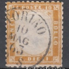 Sellos: ITALIA, 1862 YVERT Nº 2 . Lote 176587034
