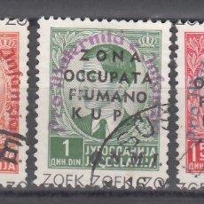 Sellos: FIUME-KUPA, OCUPACIÓN ITALIANA, 1942 YVERT Nº 19, 20, 21, . Lote 176869769