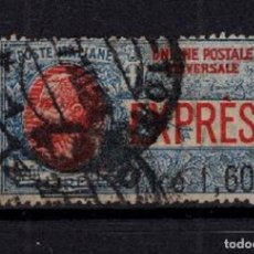 Sellos: SELLO USADO ITALIA 1924 MI 205 DOBLE MATASELLOS ALTO VALOR. Lote 180489272