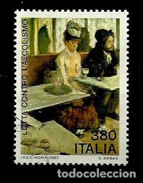 ITALIA SELLO USADO 1987 (Sellos - Extranjero - Europa - Italia)