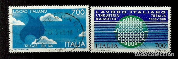 ITALIA SELLO USADO 1987 (SERIE COMPLETA) (Sellos - Extranjero - Europa - Italia)