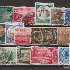 Sellos: R8/ ITALIA, BONITO LOTE DE MATASELLADOS, ANTIGUOS. Lote 181869666