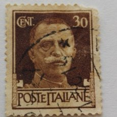Sellos: SELLO POSTE ITALIANE AÑOS 1943 REY VITORIO EMANUELE. Lote 182169897