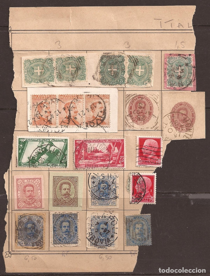 Sellos: ANTIGUOS SELLOS DE ITALIA MAS OTROS NUEVOS ITALIA Y VATICANO. VER IMAGENES. - Foto 5 - 182472135
